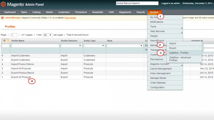Procedure to export/download product list/catalogue from my Magento store