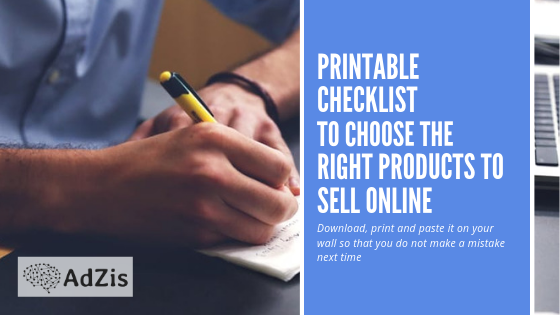Downloadable Checklist to Choose Products to Sell on your Online Store