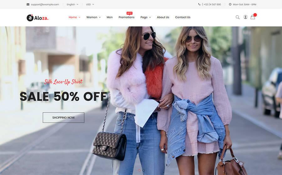 Aloza - Responsive Fashion 2 Magento Theme