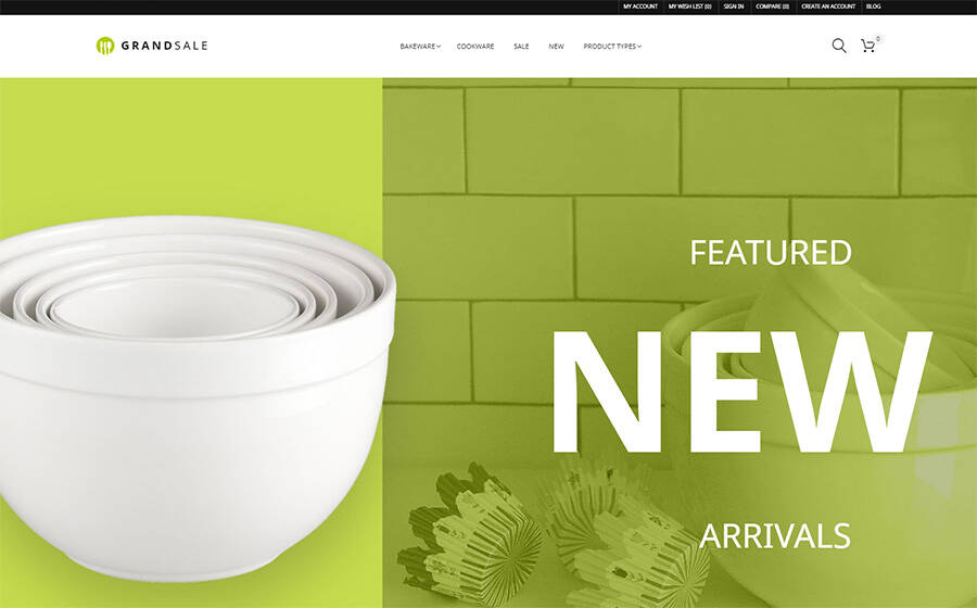 GrandSale - Kitchen Supplies Magento Theme