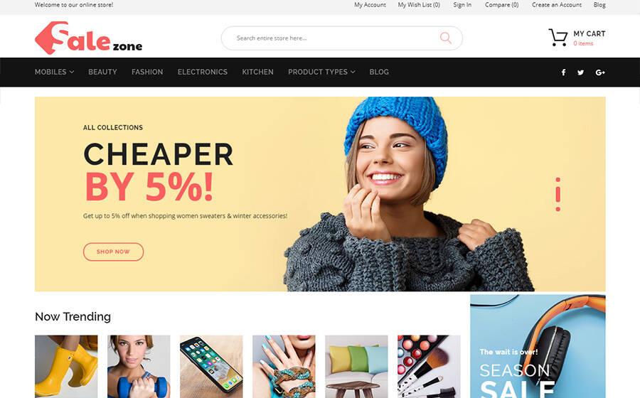 SaleZone - Wholesale Store Magento Theme