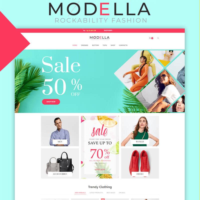 Modella - Fashion Store Elementor WooCommerce Theme