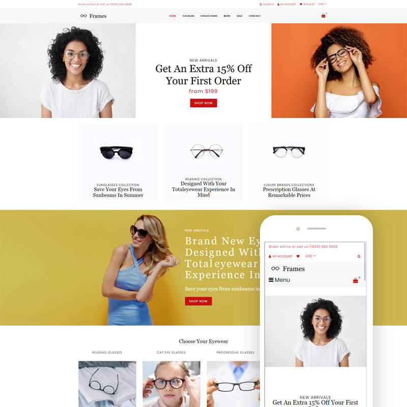 Frames - Glasses Store Clean Shopify Theme