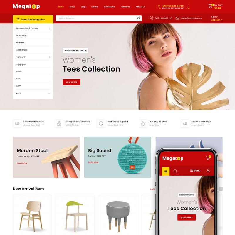 Megatop - Multipurpose Store WooCommerce Theme