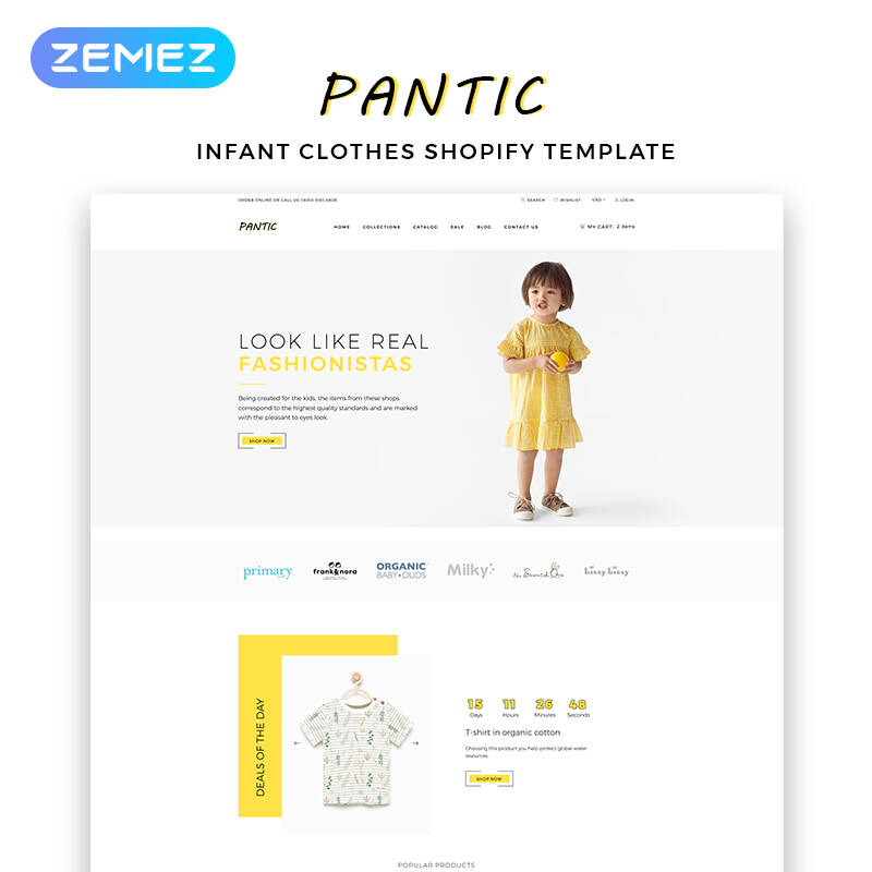 Pantic - Kids Fashion Clean Shopify Theme