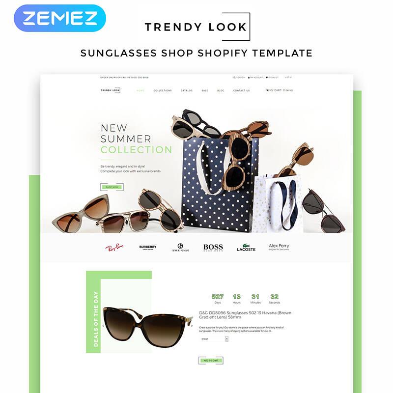 Trendy Look - Eye Glasses eCommerce Modern Shopify Theme