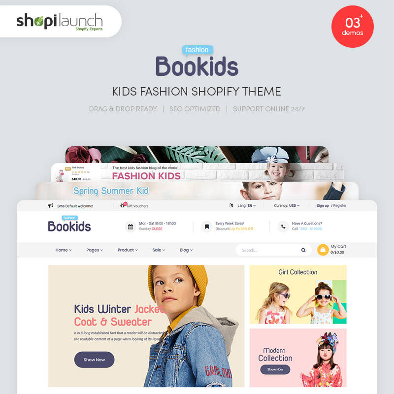 BooKids - Kids Fashion Shopify Theme