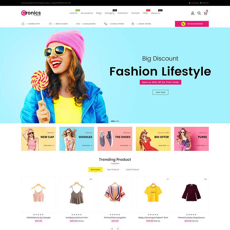 Cronics Fashion Responsive Shopify Theme