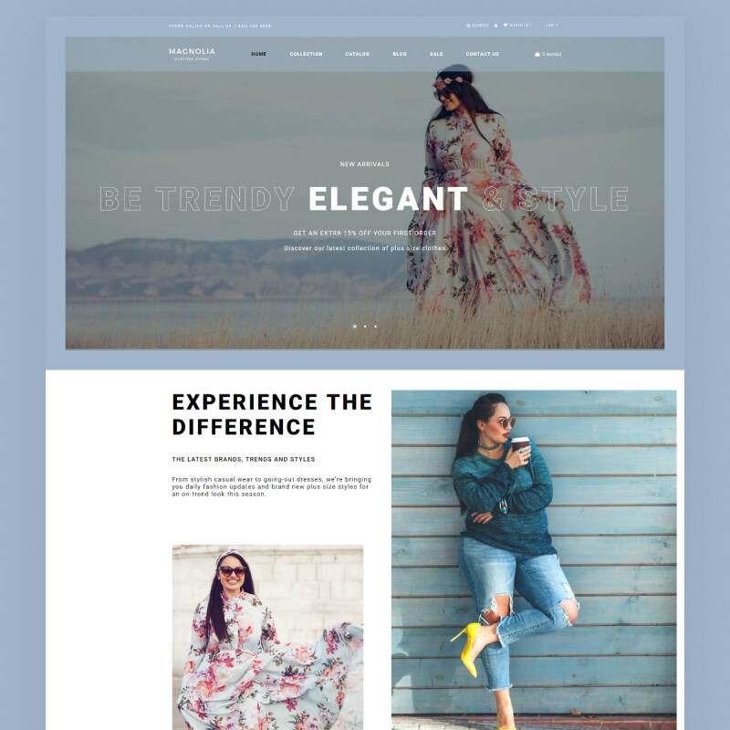 Plus Size Clothing Store Theme